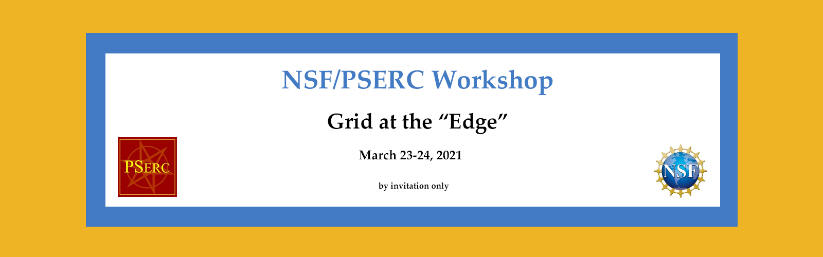 NSF/PSERC March Workshop